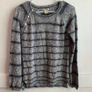 Lucky Brand Gray Striped Sweater